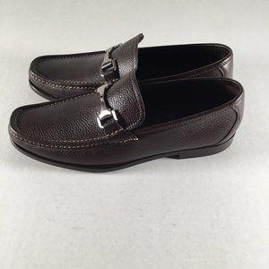 Allen Edmonds Brown Leather Loafers Firenze 10 D